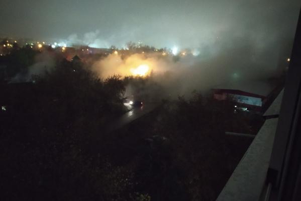Улицы заволокло плотным «туманом»