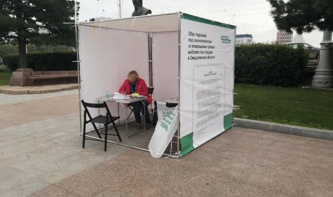 Активисты хотят получить от Высокинского десятитысячную подпись за прямые выборы мэра в Екатеринбурге