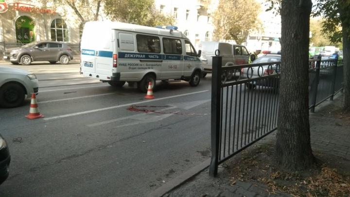У пострадавшей много травм: в центре Екатеринбурга водитель Lada сбил женщину