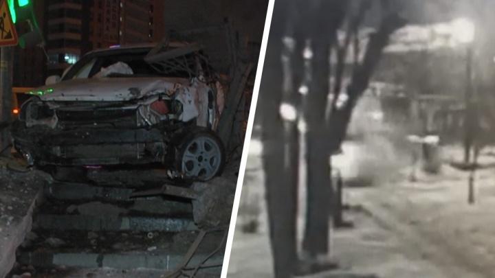 «Ехал минимум 110 км/ч»: появилось видео ночного ДТП с Chevrolet Lacetti на Халтурина — Готвальда