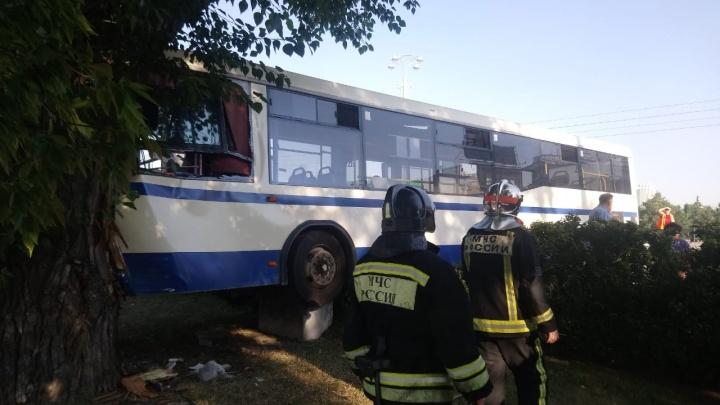 На Плотинке пассажирский автобус вылетел на встречку и врезался в дерево: что известно об аварии