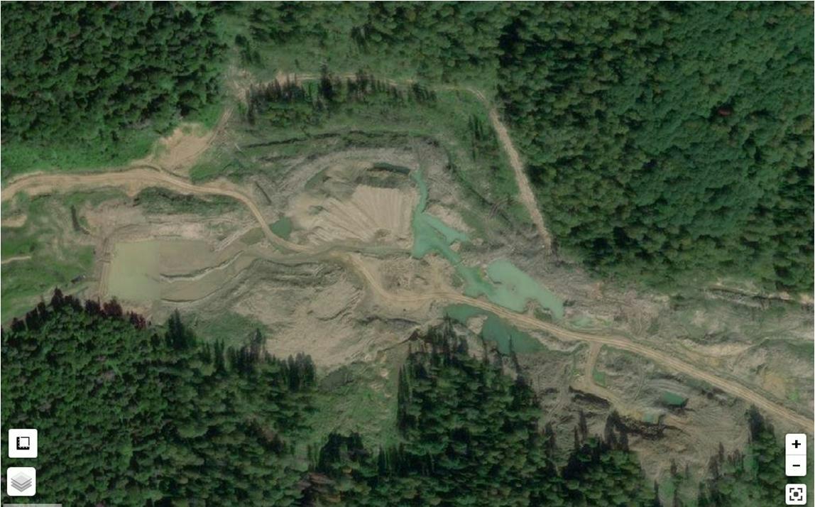 Добыча золота на реке Конюхта в государственном заказнике Барзасский
