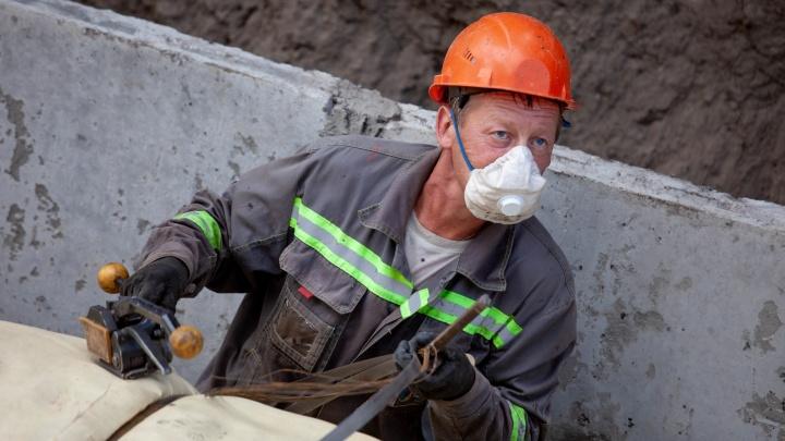 В Красноярске отремонтировали первый участок теплосетей СГК на улице Матросова