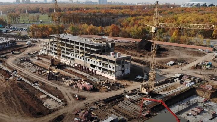 Главный корпус комплекса для ГИБДД у «Самара Арены» вырос до 5 этажей