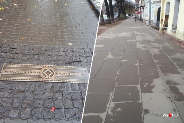 Тротуар на улице Пушкина после ремонта стал выглядеть по-другому