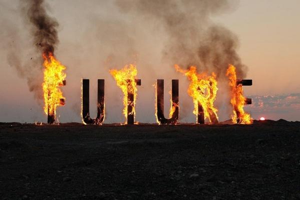 Огонь полностью уничтожил буквы, даже сами конструкции потом развалились