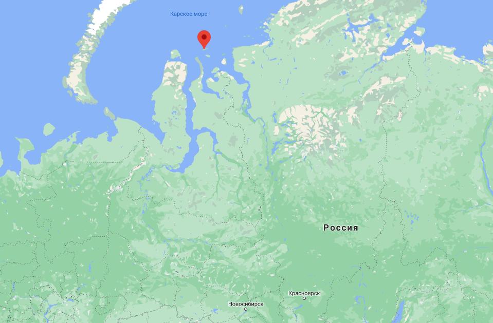Только посмотрите, где находится остров Вилькицкого!