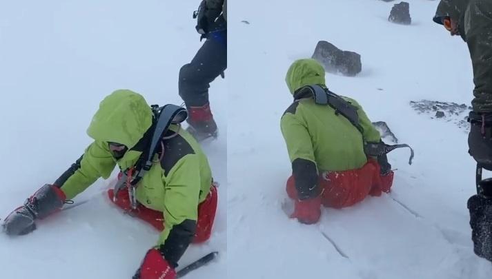 Десантник, потерявший ноги в Светлом, решил подняться на вершину Эльбруса на руках