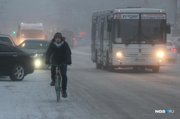 В Новосибирске продержится морозная и бесснежная погода