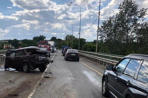 Авария произошла на трассе Курск— Саратов