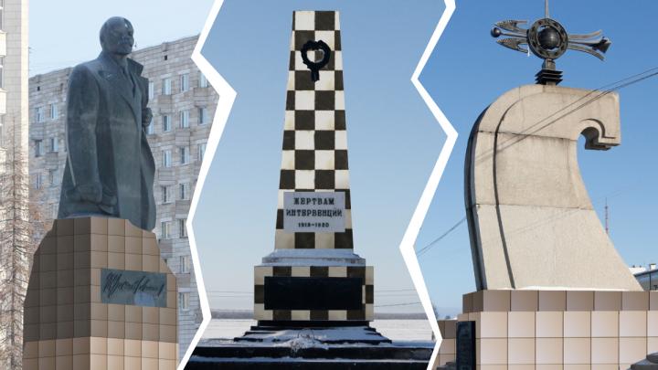 Ленин в кафеле: смотрим на памятники Архангельска в фасадной плитке