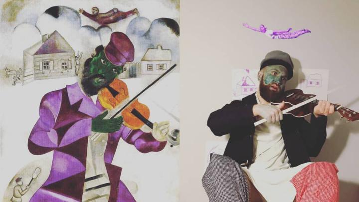 Это шедевр! Екатеринбуржец снимает пародии на картины известных художников для своего Instagram
