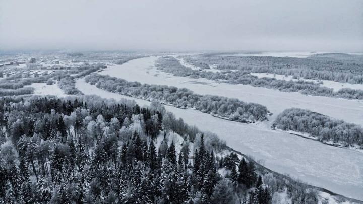 Ледяная красота севера. Фотограф из Красновишерска снимает удивительные кадры природы с высоты