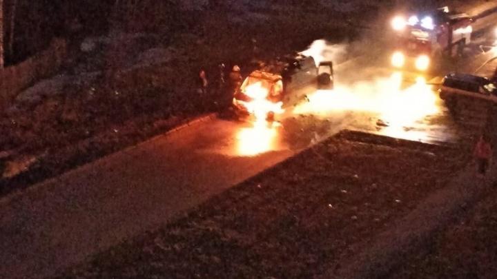 В Перми загорелась машина скорой помощи