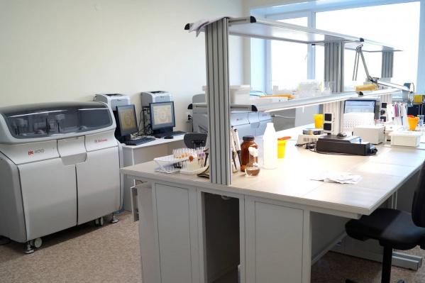 Так выглядит лаборатория в Северодвинской городской клинической больнице № 2
