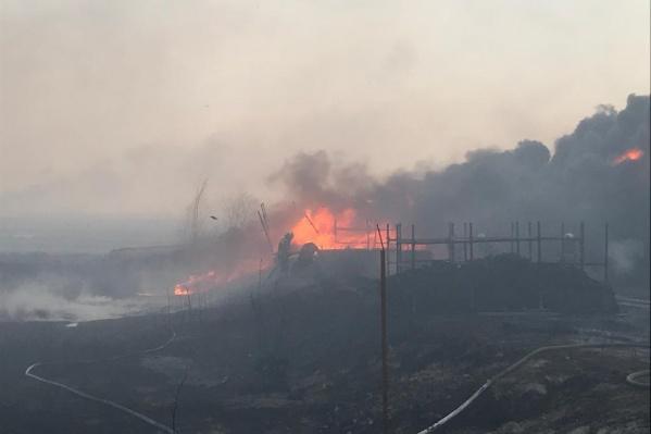 Сообщение о пожаре поступило в дежурную часть около 14:00
