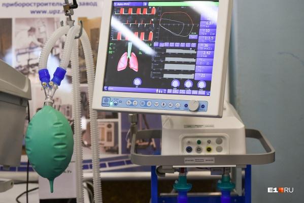 Всего в регионе в наличии 419 аппаратов искусственной вентиляции легких