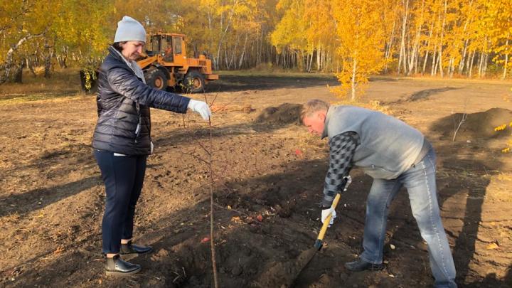 В Омске заложили сквер на месте будущего жилого микрорайона на 30 тысяч человек