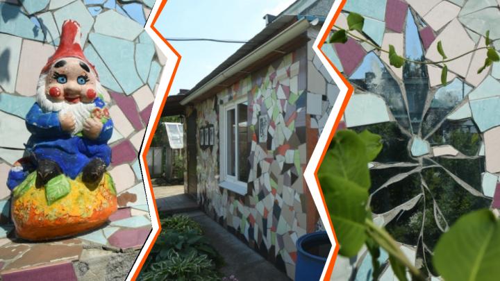 Уральский Гауди: в селе Кочневском пенсионерка украсила дом мозаикой из битой плитки