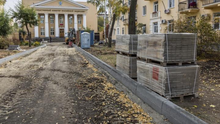 «Не гранит, а старый бетон»: в мэрии не считают преступлением исчезновение бордюров в центре Волгограда