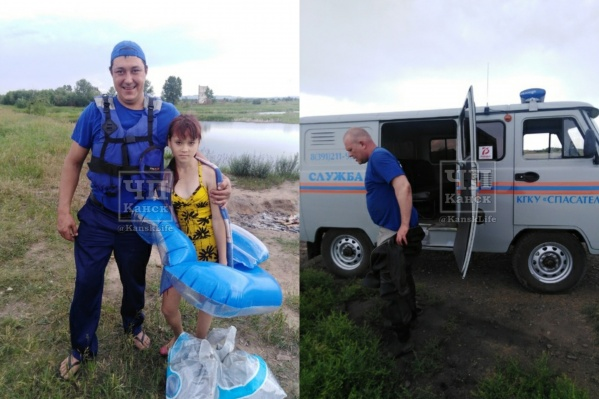 Спасатели достали круг из болота