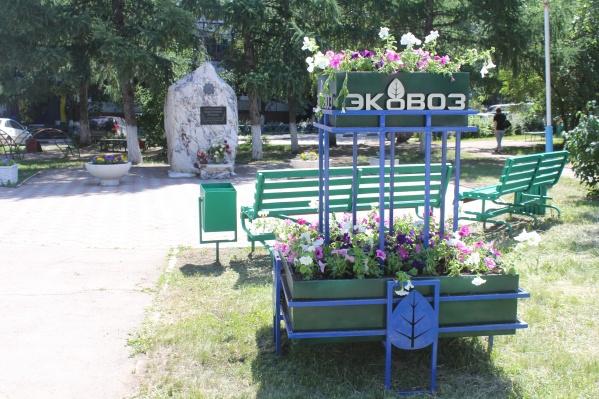 Цветочные композиции появились в нескольких точках города