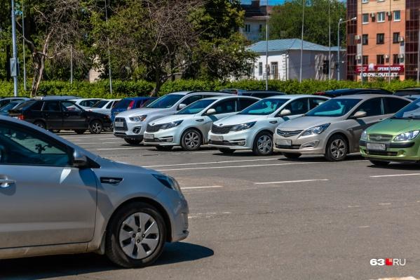 Платные парковки в Самаре должны появиться в 2021 году
