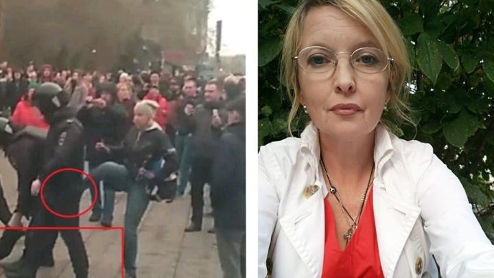 В ЕСПЧ зарегистрировали жалобу общественницы, которая пнула полицейского во время митинга