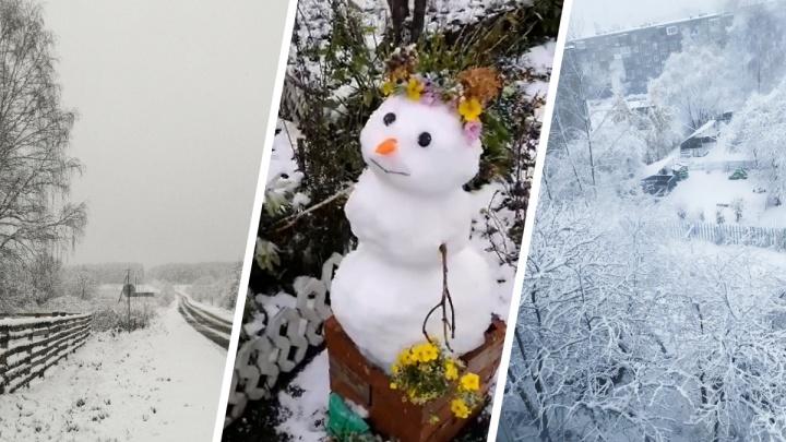 Зима началась внезапно: подборка снежных фотографий и видео от читателей E1.RU со всего Урала