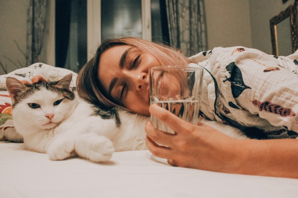 Вода и котик утром будут очень кстати