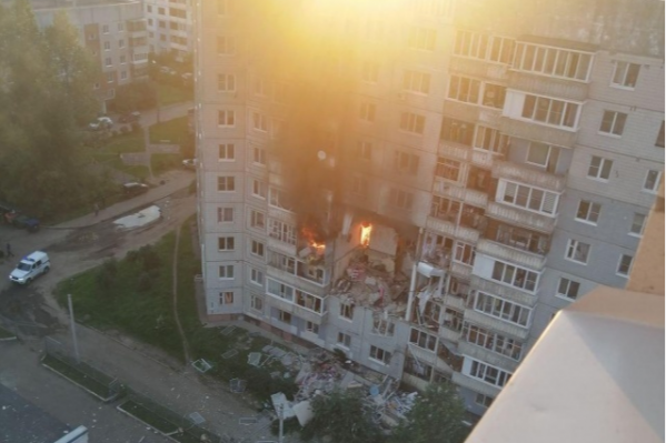 Ярославцы снимали фото и видео, не веря в реальность происходившего на их глазах