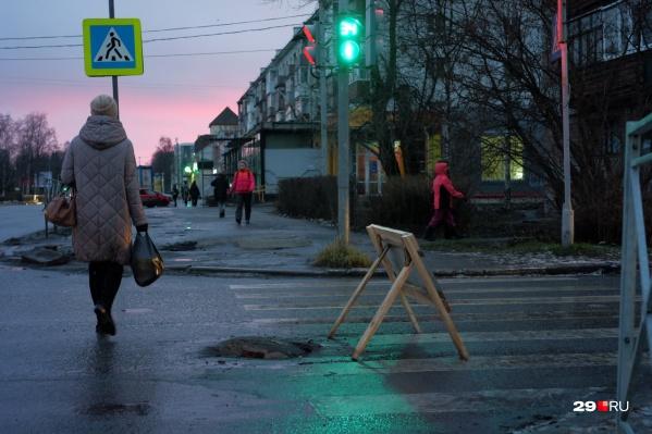 На некоторых перекрестках Архангельска нетрудно попасть в аварию