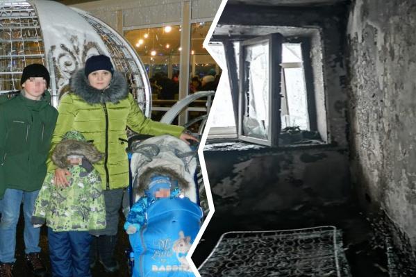Квартира Макаровых выгорела полностью