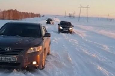 Путники смогли выбраться из снежного плена только к утру