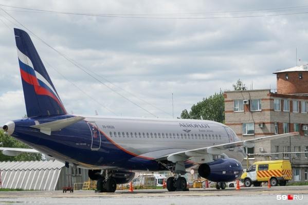 Сейчас самолет готовится к вылету в Москву