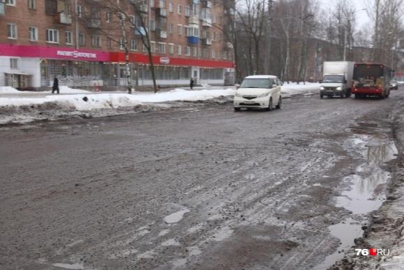 С 15 мая в Ярославле перекроют для ремонта участок Тутаевского шоссеот Урицкого до Панина