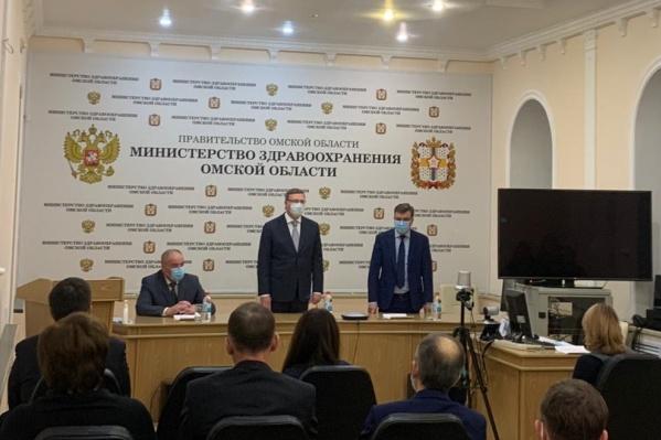 На встрече также присутствовал курирующий отрасль здравоохранения зампред Владимир Куприянов