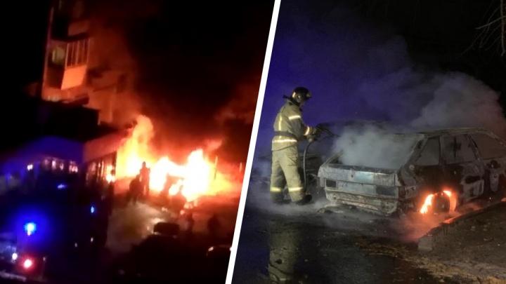 «Гарью пахло на весь район»: на Юго-Западе за ночь сгорело три автомобиля