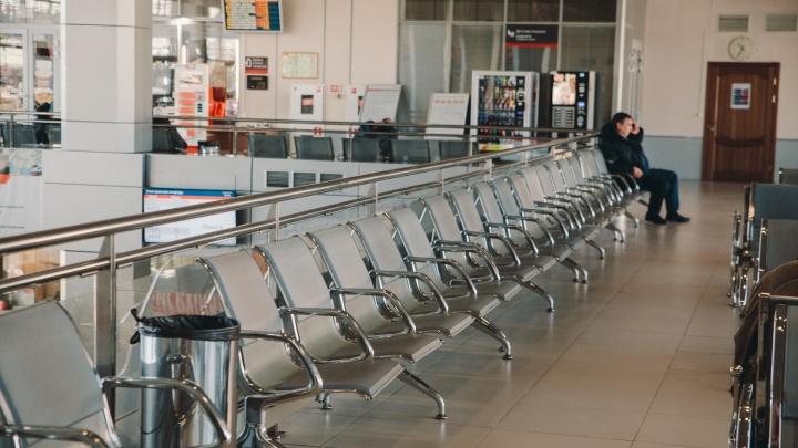 Как после апокалипсиса: показываем в 14 кадрах опустевшие тюменские вокзалы и аэропорт