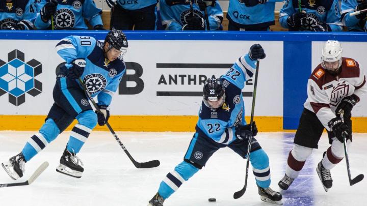 Вырвали победу: ХК «Сибирь» обыграл рижское «Динамо» в домашнем матче