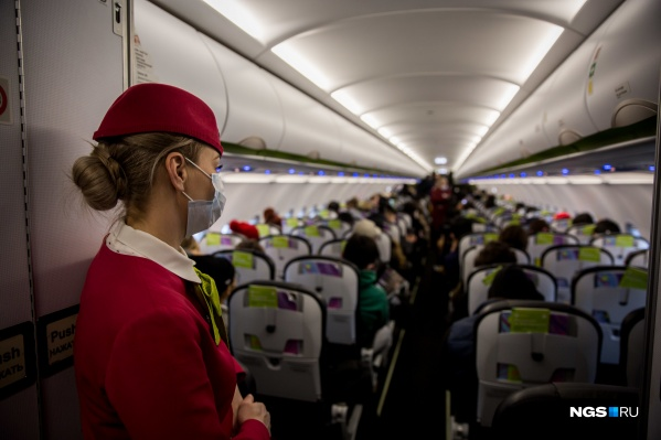 Женщина прилетела в Новосибирск 15 марта