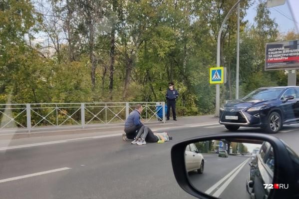 Иномарка не затормозила на пешеходном переходе