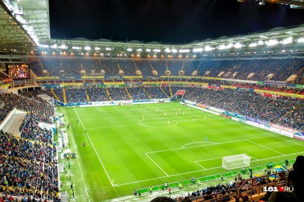 «Ростов Арена» приняла первые матчи в 2018 году