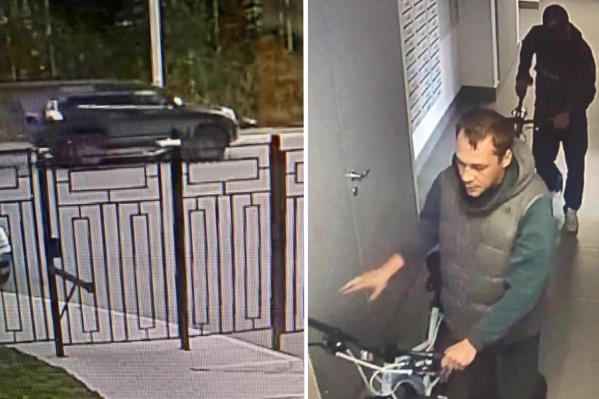 На камеры видеонаблюдения попал автомобиль похитителей