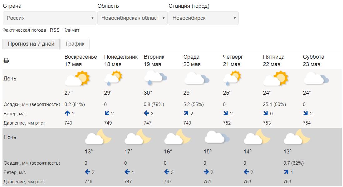В ближайшие дни в Новосибирске жара