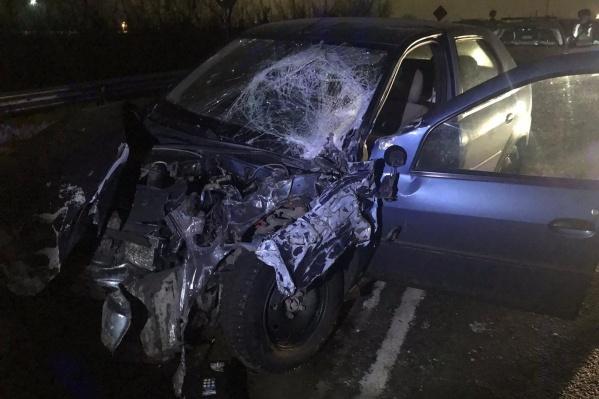 Водитель иномарки получил травмы, но отделался амбулаторным лечением