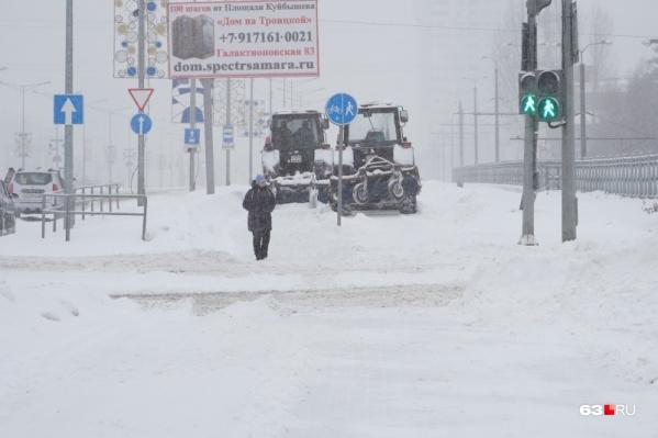 В Самаре за день выпало 18 миллиметров снега