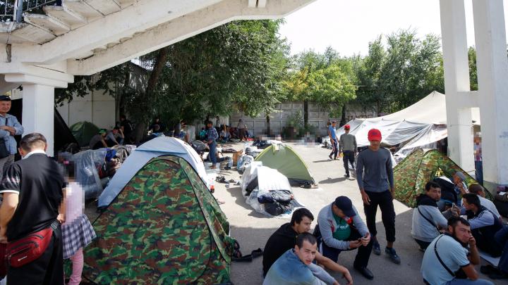 В правительстве области заявили, что стихийный лагерь узбеков в Ростове возник стихийно
