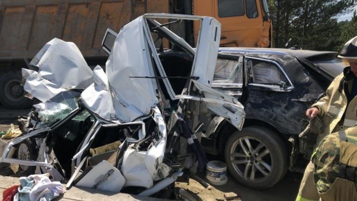 В Сети появилось видео смертельного ДТП на трассе М-5, где пострадали четверо уфимцев