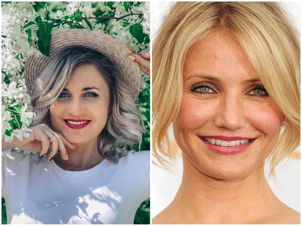 Сама Ольга считает, что с Диаз они похожи улыбкой